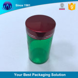 شفّافة/صفراء/كهرمان/أخضر يلوّن أسطوانيّ بلاستيكيّة الطبّ زجاجة مرطبان مع [ألومينون] غطاء لأنّ [هلث فوود]