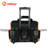 Sacchetto di rotolamento multifunzionale del carrello della valigia attrezzi di migliore qualità con la barra e le rotelle di tensionamento