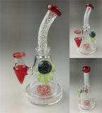 Tubo de fumar Recicladora de topo do tubo de água de vidro