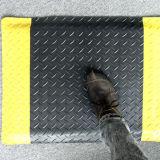 Циновка Cleanroom PVC резиновый Antislip желтая черная