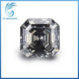 회색 다채로운 Asscher는 형식 보석을%s 8X8mm 3cts Moissanite 다이아몬드를 잘랐다