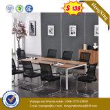 Vector de conferencia de escritorio de madera de la oficina de la pierna cuadrada del metal (UL-MFC249)