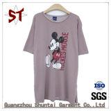 Forma alta superior curto homens/mulheres T-shirt
