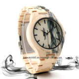 Montre-bracelet en bois du seul érable le plus neuf avec la configuration d'impression