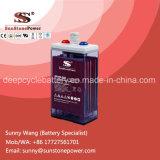 Piles solaires à l'acide à base de plomb humides, Deep Cycle 2V 200ah Batteries Flozées Opzs
