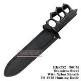 Cuchillos tácticos fijos de los cuchillos de caza de la lámina de los orificios de dedo