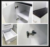 Modernes gesundheitliches Ware-glattes Weiß MDF-hölzerner Badezimmer-Schrank mit Glastür (P392-600G)