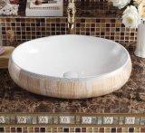 Санитарные продовольственный табличка искусства фарфора раковина для гостевой (C1197)