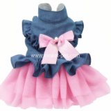 Princesss Bowtie青いピンクペット夏の衣類犬の服