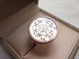 Vintage ретро потребления золота на латунные Кристально белый корпус большой кольцо