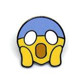 Divisa linda de encargo del Pin de la solapa del esmalte del bolso de la expresión de Emoji