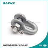 Anclaje tipo u horquilla para montaje de hardware de la línea de tendido eléctrico