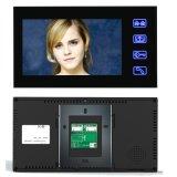 """7"""" 2 мониторами проводной / беспроводной видео сигнала системы внутренней связи WiFi с помощью пароля RFID считыватель отпечатков пальцев"""