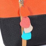 El saco de cuero del bolso de hombro del compartimiento de los bolsos de las nuevas de la manera de la mezcla del caramelo mujeres dulces del color las marcas principales Bolsos Mujer Tapa-Dirige bolsos