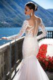 طويل كم شريط [مرميد] مساء [بروم] زفافيّ عرس ثياب