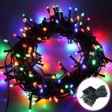 La iluminación de Navidad multicolor LED 100 resistente al agua de la luz de la cadena decorativa solar al aire libre