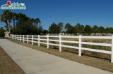 Уф защита 3 направляющих Белой Лошади из ПВХ фермы ограждения