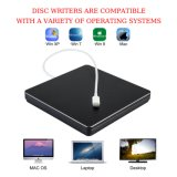 C USB DRIVE DE CD DVD externo queimador para PC/notebook/Mac (Preto)