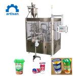 Materiale da otturazione automatico della tazza e bevanda rotativi della macchina di sigillamento che elabora macchinario