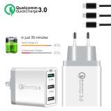 30 Вт для быстрой зарядки QC 3.0 3 порта USB Hub настенное зарядное устройство Adattatore ЕС Великобритания разъем