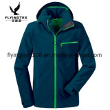 Hommes 100% polyester jacquard 3 couches Zipper Hoodie Jacket