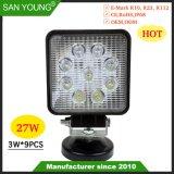 Style chaud 4 pouces de 27W Lampe de travail LED Spotlight pour Offroad camionnette 4x4 l'Ingénierie Véhicule tracteur de l'excavateur