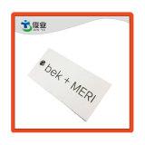 Comercio al por mayor Nuevo Diseño de impresión de papel Arte barato blanco mate cartulina Hang Tag
