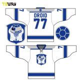 Custom sublima gracioso diseño de camisetas Hockey Europeo OEM