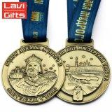 Custom Bronze antigo Rei Retrato Cabeça Sport Medalha de adjudicação