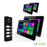 4つのボタンの相互通信方式のタッチ画面ビデオ7インチのホームセキュリティーのDoorphone
