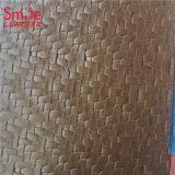 Tejer Dos Tonos Wholesales diseño impreso PVC material de tela de tapicería de cuero de imitación