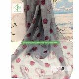 100%のビスコース方法女性のヨーロッパのスカーフの象によって印刷されるイスラム教のショール