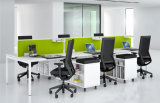 La moderna estación de trabajo de forma lineal de 6 plazas con mesa librería (SZ-WS328)