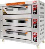 Astar Steell inoxydable Rql-120 3 Deck 12 réservoirs de gaz de four de pont de l'équipement de boulangerie, ce approuvé