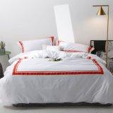 カスタマイズされた100%年の綿のホテルはセットされた染められた贅沢な寝具を印刷した(JRD174)