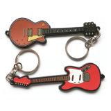 Diseña tu propia guitarra Llavero PVC blando con anillo