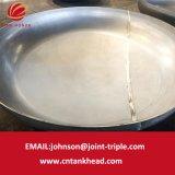 testa ellittica del piatto dell'acciaio inossidabile 01-13-Large con l'estremità del contenitore a pressione di scoppio ASME della sabbia
