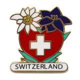 금속 기술 스위스 도매 주문 금 단단한 사기질 기장 접어젖힌 옷깃 Pin (001)