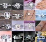 De voor altijd Briljante Ronde Verlovingsring van de Halo Moissanite