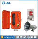 Промышленные Взрывозащищенный Телефон горячей линии с Exd звуковой сигнал& проблесковый маячок, мощность станции Взрывозащищенный телефон