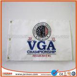 Campo de Golf de doble capa bordados bandera con ojales