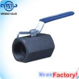 valvola a sfera manuale forgiata ad alta pressione del acciaio al carbonio 1PC