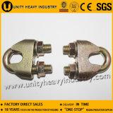 Clip malléable galvanisé par électro de câble métallique DIN1142