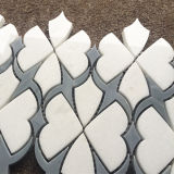 Mattonelle Waterjet bianche di Thassos di stile speciale, mattonelle di mosaico