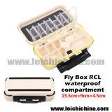 Compartimento impermeável de alta qualidade 15.5 * 9 * 4.5cm Fly Fishing Box