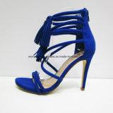 Zapatos atractivos de la sandalia del alto talón de señora Fashion Women del estilo con la borla