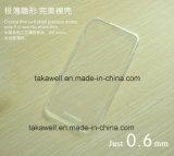 iPhone 6の6s移動式カバーのための卸し売りカスタム柔らかい透過ゆとりTPUの携帯電話の箱