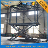 Underground Scissor Double Car Lift Estacionamento System