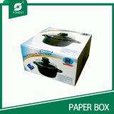 Rectángulo de empaquetado de papel del color acanalado para el crisol de guisado