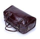 中国の工場価格レトロ様式の赤ワインの革旅行Weekender袋